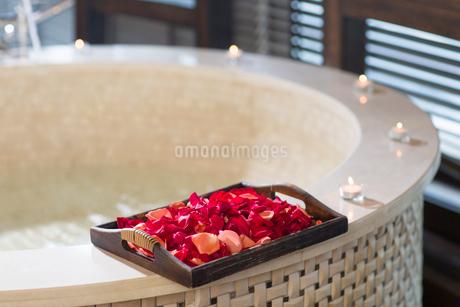 Rose petals and bathtubの写真素材 [FYI02226583]
