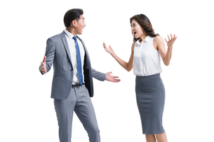 Shocked young business peopleの写真素材 [FYI02226808]