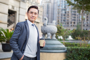 Portrait of confident Chinese businessmanの写真素材 [FYI02226825]