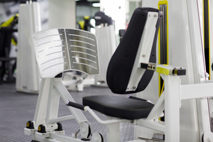 Exercise equipment in gymの写真素材 [FYI02227208]
