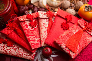 Chinese traditional items for Chinese New Yearの写真素材 [FYI02227223]