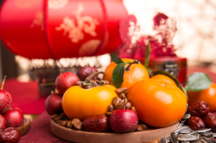 Chinese traditional items for Chinese New Yearの写真素材 [FYI02227428]