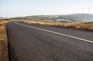 Highway in Inner Mongolia province, Chinaの写真素材 [FYI02228236]