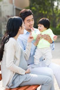 Happy young familyの写真素材 [FYI02229940]