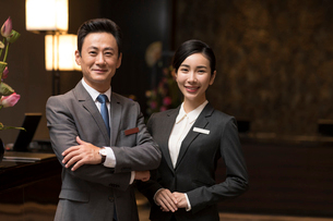 Portrait of professional Chinese service staffの写真素材 [FYI02230519]