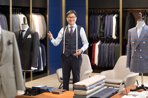 Confident Chinese fashion designerの写真素材 [FYI02230586]