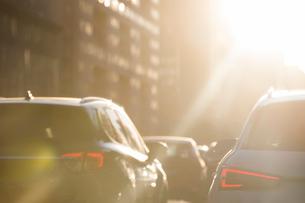 Cars in traffic jamの写真素材 [FYI02231574]