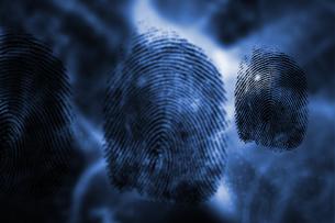 Three black fingerprintsの写真素材 [FYI02232813]