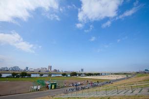 五反野野球場 荒川河川敷の写真素材 [FYI02233441]