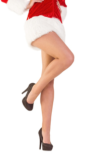 Festive womans legs in high heelsの写真素材 [FYI02233804]