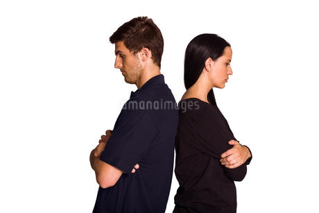 Couple not talking after argumentの写真素材 [FYI02234373]