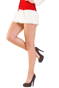 Festive womans legs in high heelsの写真素材 [FYI02234558]