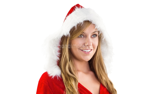 Festive blonde smiling and looking awayの写真素材 [FYI02234690]
