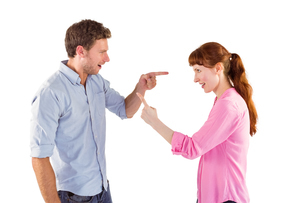 Couple arguing with each otherの写真素材 [FYI02234803]