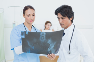Nurse and doctor with x-rayの写真素材 [FYI02235373]