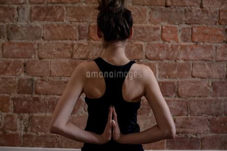 Woman performing yogaの写真素材 [FYI02238809]