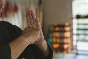 Kung fu fighter training martial artsの写真素材 [FYI02240789]