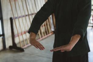 Man practicing kung fuの写真素材 [FYI02241895]
