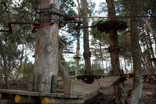View of wooden adventure sports equipmentの写真素材 [FYI02242139]