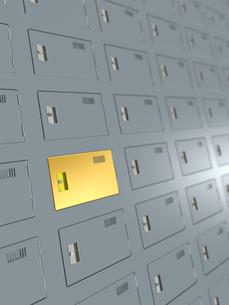 金色扉のあるロッカーのイラスト素材 [FYI02243531]