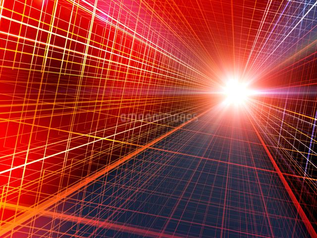 立体法線と光芒のイラスト素材 [FYI02243701]