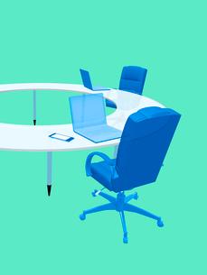 会議テーブルとビジネスチェアのイラスト素材 [FYI02243868]