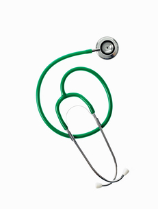 A doctor's stethoscope with green tubing, conceptの写真素材 [FYI02246701]