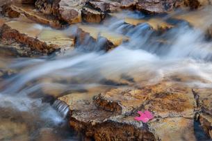 Water flowing over rocks.の写真素材 [FYI02247876]