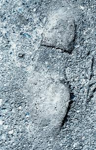 Shoe print in gravelの写真素材 [FYI02250924]