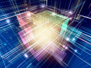 光線群によるスピード感あふれる異空間のイラスト素材 [FYI02255409]