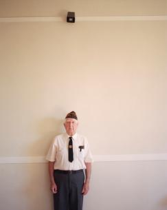 Portrait of elderly Korean war veteranの写真素材 [FYI02255652]