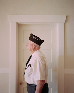 Portrait of elderly Korean war veteranの写真素材 [FYI02255878]