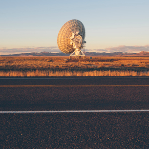 Large radio antennas, also know as The Very Large Array (VLA), used to search for extra-terrestrialの写真素材 [FYI02256053]