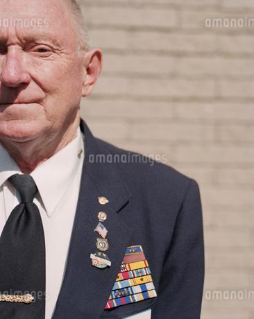 Portrait of elderly Korean War veteranの写真素材 [FYI02256527]