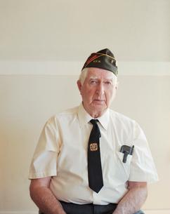 Portrait of elderly Korean war veteranの写真素材 [FYI02256638]