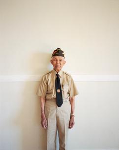 Portrait of elderly WWII veteranの写真素材 [FYI02256706]