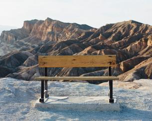 Zabriskie Point at dawn, Death Valley National Park, USA.の写真素材 [FYI02257033]