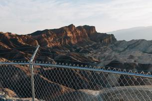 Zabriskie Point at dawn, Death Valley National Park, USA.の写真素材 [FYI02257099]
