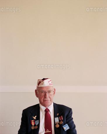 Portrait of elderly Korean War veteranの写真素材 [FYI02257144]