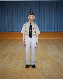 Portrait of elderly WWII veteranの写真素材 [FYI02257157]