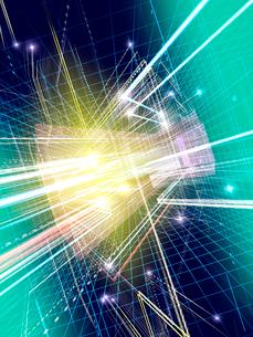 光線群によるスピード感あふれる異空間のイラスト素材 [FYI02257650]