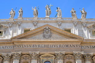 St Peter's Basilica in Rome, Italian Renaissance architecture, and UNESCO world heritage site. Facadの写真素材 [FYI02259985]