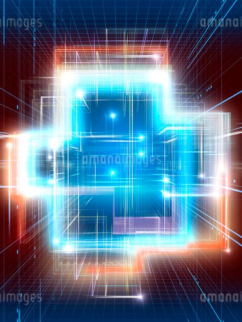 光線群によるスピード感あふれる異空間のイラスト素材 [FYI02262338]