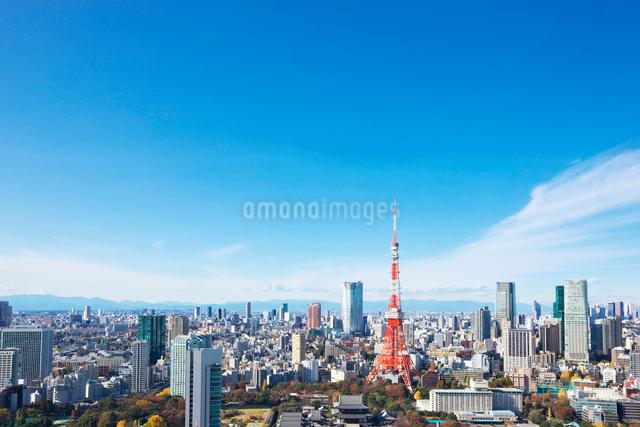 東京タワーと都心の街並の写真素材 [FYI02264740]