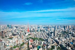 東京の昼間の街並みと東京タワーの写真素材 [FYI02264790]