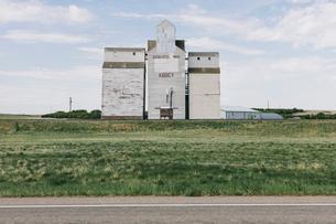 Grain elevators, near Abbey, Saskatchewan, Canada.の写真素材 [FYI02266028]