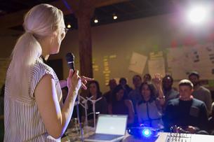 Speaker leading presentationの写真素材 [FYI02267678]