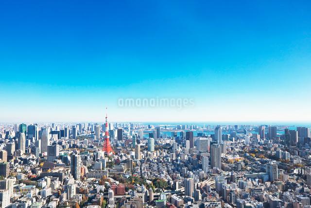 東京タワーと都心の街並の写真素材 [FYI02270776]