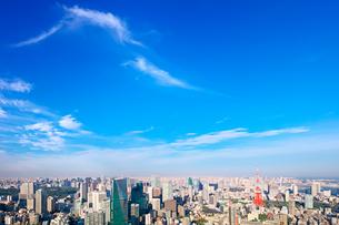 東京の昼間の街並みと東京タワーの写真素材 [FYI02270793]