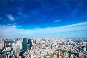 東京の昼間の街並みと東京タワーの写真素材 [FYI02270823]